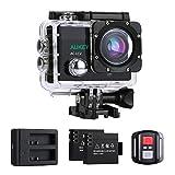 AUKEY Action Sport Kamera, 4K 170 Ultra Weitwinkel Full HD Kamera, 30m Wasserdicht, mit 21 Zubehr...