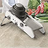 Yagor Mandoline Slicer - Cortador de queso y rallador ajustable de acero inoxidable para cortar chopper y rallar para la cocina, comida rebanadora de patata, cortador de cebolla y tomate