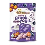 Happy Baby Organic Greek Yogis Freeze-Dried Greek Yogurt and Fruit Snacks Blueberry/Purple Carrot, 1 Ounce Bag (Packaging May Vary)