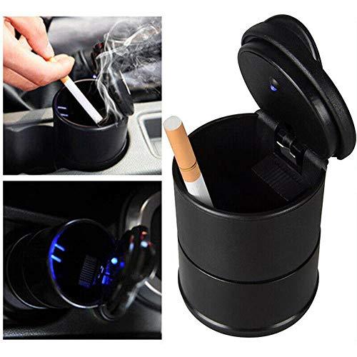 CDFD 1 STÜCKE Tragbare LED Rauch Auto Aschenbecher Zigaretten Aschenbecher Halter Tasse Auto Leuchtanzeige Aschenbecher