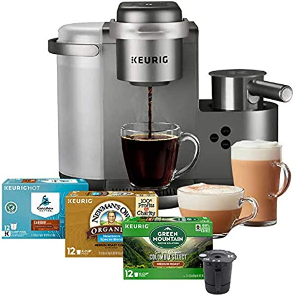 Keurig K Cafe C Single Serve K Cup Pod Coffee Latte And Cappuccino Maker Nickel