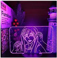 3Dイリュージョンナイトライト ゲームアニメーションキャラクター キッズベッドサイドランプ7色段階的に変化するタッチスイッチ3Dナイトライトキッズ目の錯覚ランプキッズランプギフトのアイデアとして女の子