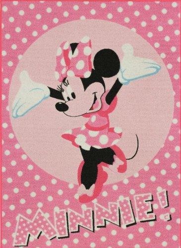 Minnie Mouse Minnie Mouse con puntini rosa bambini tappeto tappeto bambini tappeto gioco tappeto non può mancare in cameretta assenza di 95x 133cm