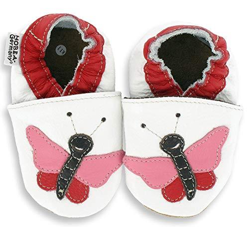 HOBEA-Germany Lauflernschuhe Hausschuhe Kinderschuhe Mädchen, Schuhgröße:18/19 (6-12 Monate), Modell Schuhe:Schmetterling Pauline