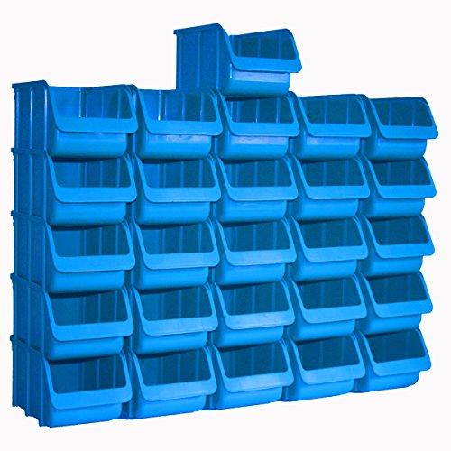 26x Profi Sichtboxen PP Größe 3 blau NEU Stapelbox Sicht-Lagerbox Boxen Sichtbox