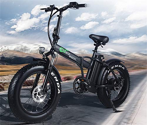 SHIJING Ciclo de Fat Tire 2 Rueda de Bicicleta Plegable eléctrica 500W...