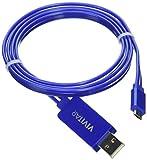 Vivitar VU10012-BLU-TWD Vivitar Light Up 3ft Micro Cable, Blue
