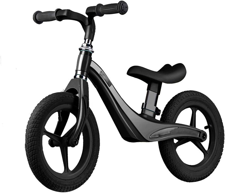 productos creativos YJFENG-bicicleta de equilibrio Bicicleta Sin Pedales Andador Andador Andador Juguetes De Los Niños Sin Angulo Agudo Baja Resistencia Aprende A Andar En Bicicleta,3 Colors (Color   negro, Talla   85x50cm)  auténtico