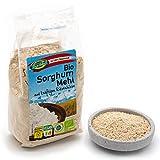 Bio Sorghummehl – 6 x 300g – Gentechnik- und glutenfrei – Mehl aus stechapfelfreier, ungeschälter Sorghum Hirse – Aus Österreich – Rohkost