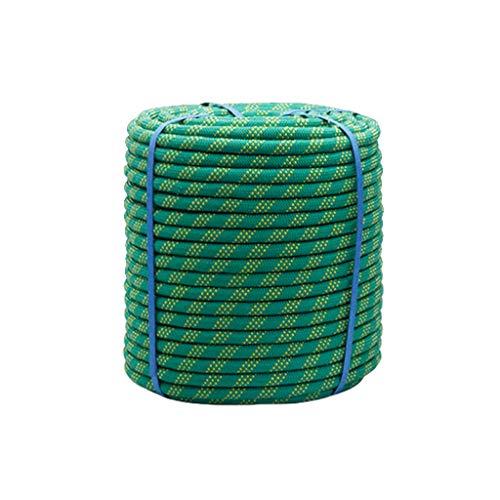 Grün Multifunktionsseil Assistance Camping-Zelt Seil Katastrophenschutz Sicherheit Outdoor Activity Zubehör Multifunktionale 10mm/12mm/14mm/16mm/18mm(Doppelhaken + Handschuhe)(Size:20m,Color:10mm)