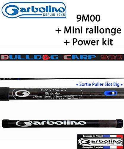 Garbolino Pack Pêche Au Coup/Carpe Bulldog Carp 9M00 + Mini Rallonge + Power Kit