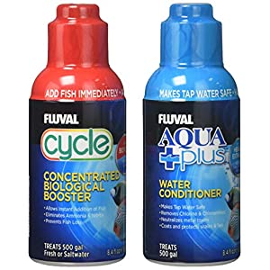Fluval Cycle and Aquaplus Water Treatment Pack, 250 ml