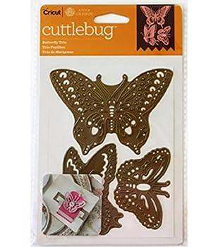 Cricut Cuttlebug Dies Butterfly Trio