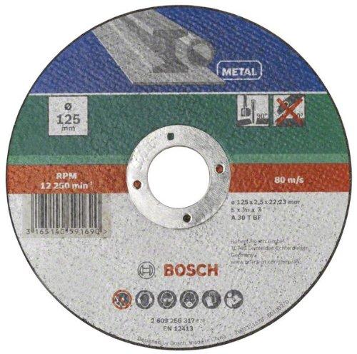 Bosch 2609256317 DIY Trennscheibe Metall 125 mm ø x 2.5 mm gerade