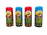 Slime Licker Bundle of Sour Rolling Liquid Candy Strawberry and Blue Razz Two Each Flavor 2oz Each