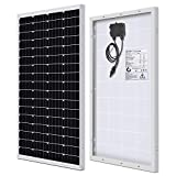 WEIZE 100 Watt 12 Volt Solar Panel, High Efficiency Monocrystalline PV Module for Home, Camping, Boat, Caravan, RV and Other Off Grid Applications