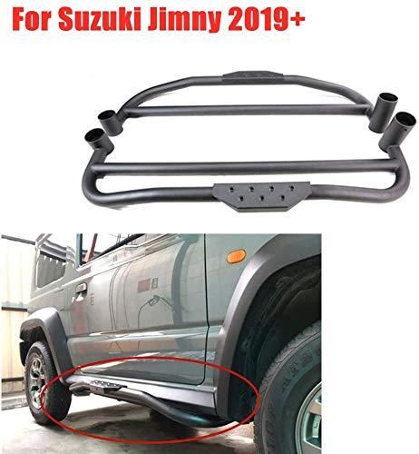 HYNB 1 paar Metalen Zijbumper Voetpedaal Guard Cleat Skid Plate Voor Suzuki Jimny JB64 JB74 2019 2020, Auto Modificatie Uiterlijk Upgrade Accessoires Decoratie