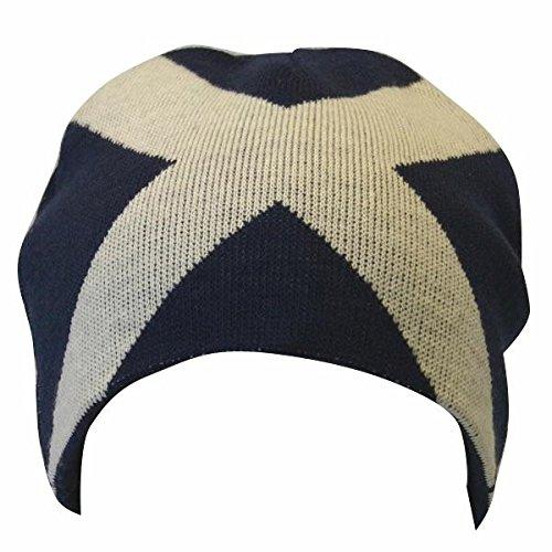 Bonnet à Motif écossais - Homme (Taille Unique) (Bleu Marine/Blanc)
