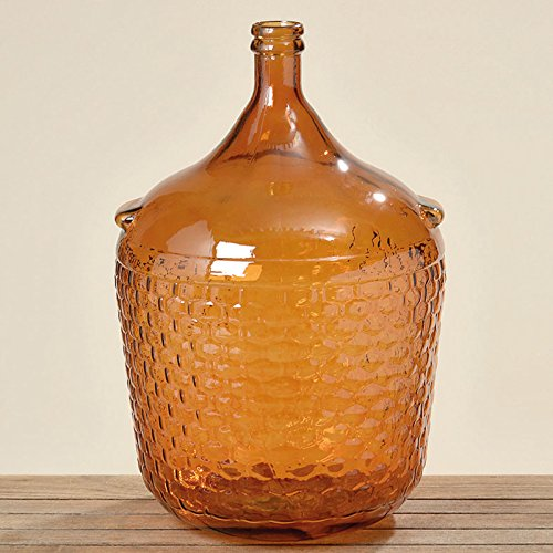 "Vase groß \""Rango\"" lackiertes Glas braun Deko-Vase H56 cm"