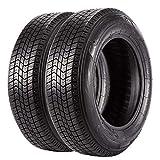 Set of 2 Trailer tires 175 80 13 ST175/80D13 6PR Boat Trailer Bias Tires Load Range C
