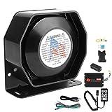 EBTOOLS Sistema de sonido de bocina de emergencia, bocina de altavoz de emergencia de coche de sirena universal 200W 130dB para alarma de incendio policial