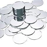 Espejos para Manualidades (Paquete de 60) - Pequeños círculos de espejos,...