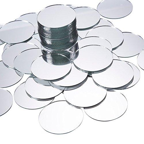 Juvale Mini-Spiegel (Set, 60 Stück) - Rund, Unbehandelter Rand, Ideal zum Basteln - Für Spiegelmosaike zum Selbermachen, zum Dekorieren, Akzente setzen - Kreis, Durchmesser 5,1 cm