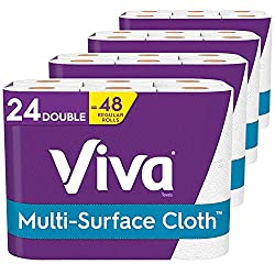 small Viva Multi-Surface Cloth Kitchen Towel Choice, White, 24 Double Rolls (110 Sheets …