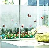 kdjshhs Pegatina De Pared Flores De Pasto Cercas Mariposa Cintura Zócalo Pegatinas Dormitorio Sala De Estar Pegatinas De Pared para Niños Habitación Decoración para El Hogar 3D