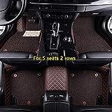 WHJIXC para Landrover Evoque Range Rover Velar Discovery 3/4/5 Freelander 2 Discovery Sport, Alfombrillas de Cuero Personalizadas