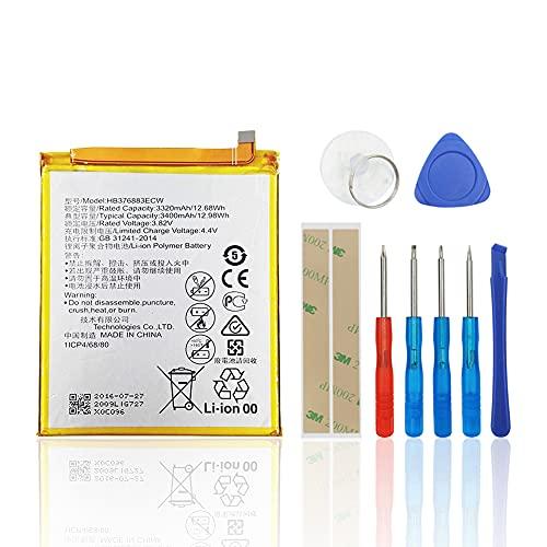 SwarKing Batería de repuesto compatible con Huawei P9 Plus VIE-L09, VIE-L29, VIE-AL10 HB376883ECW con kit de herramientas.