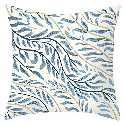 KnBoB Funda Almohada Poliéster 45 x 45 cm Sale De Marrón Claro Azul Estilo 10