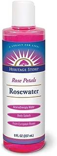 Heritage Products 玫瑰水,玫瑰花瓣,8 盎司 8oz Bottle