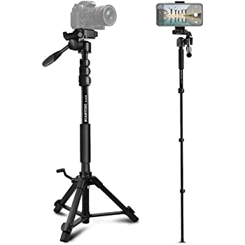 LAILINSHENG Camera monopods 2-Way Pan//Tilt Tripod Head Panoramic Photography Head with Quick Release Plate /& 3 Bubble Level