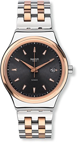 Swatch Orologio Digitale Quarzo Uomo con Cinturino in Acciaio Inox YIS405G