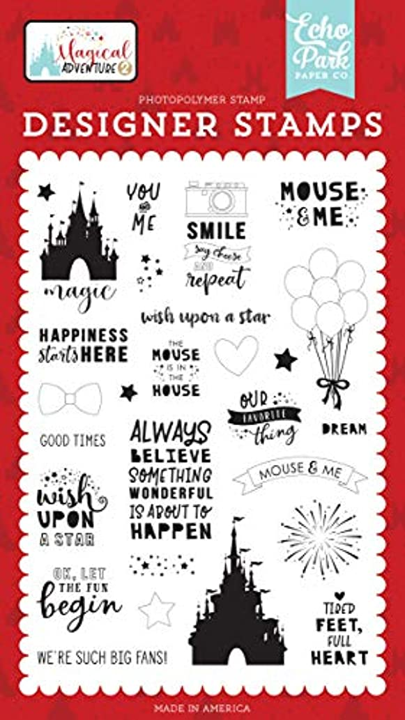 Echo Park Paper Company MAG177048 Our Favorite Thing Set Stamp Black, red, Yellow, Teal, Kraft