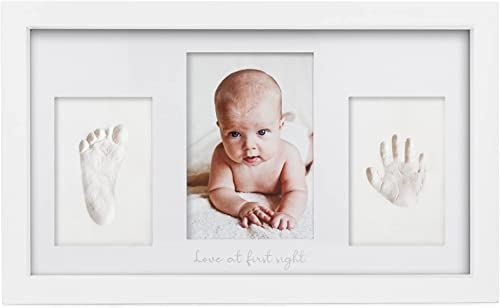 Kit Souvenir Empreinte et Empreinte Bébé - Impressions pour enfants - Cadre photo Duo nouveau-né -Kit d'art de mémoir...