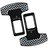 2PCS Seat Belt Buckle, Automotive Metal seat Belts Silencer Stopper