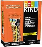 BE-KIND Barrita de Frutos secos con mantequilla de cacahuete y chocolate negro, paquete de 12 unidades