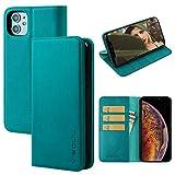 iPhone11ケース 手帳型 アイフォン11ケース 手帳 本革 レザーケース VISOUL スマホケース 3枚カード入れ 携帯カバー 全面保護 マグネット 横置きスタンド iphone11 財布型 6.1インチ(ミント)