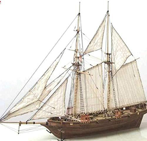 QPOLLY Modelo Velero, Kit De Modelado De Velero De Madera, Kit de Montaje de Barco de Bricolaje, Adorno Nautico Modelo De Decoración para Niños Adultos, maquetas Velero de 3D Madera clásico Modelo