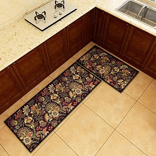 ZAZN Classical Palace Style Carpet, Dirt-Resistant And Wear-Resistant Kitchen Mat, Non-Slip Bathroom Mat, Retro Entrance Door Mat