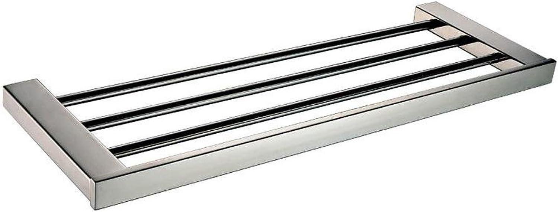 XAH@ Stainless steel bathroom mirror light with double bathroom rack metal pendants