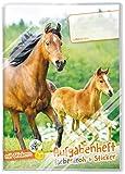 Lernfreunde Aufgabenheft A5 Farbenfroh [Pferd] - Hausaufgabenheft Grundschule ohne festes Datum inkl. Schutzumschlag & Sticker!