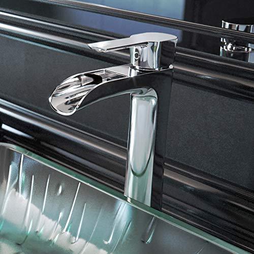 VIGO Niko Single Lever Vessel Bathroom Faucet with Pop Up