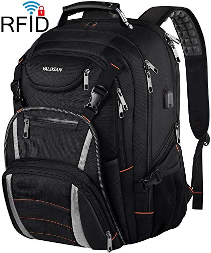 Travel Laptop Backpack,Extra Large 18.4 Inch Laptop RFID Anti Theft TSA Friendly Backpack with USB Charging Port,Water Resistant College School Bookbag,Computer Bag for Women Men Notebook&Basketball