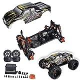 Dilwe 1/8 2.4GHz 4WD Chasis y Carrocería Camión Eléctrico Kit de Bricolaje de Coche RC de Alta Velocidad