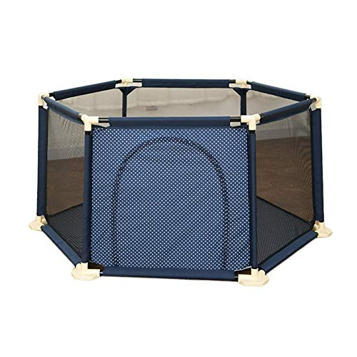 ZTMN Baby Playyard Tents Playpen and Room Divider Safety Household Protection Barrière, 67cm de Haut (Couleur: Bleu, Taille: 180 cm)