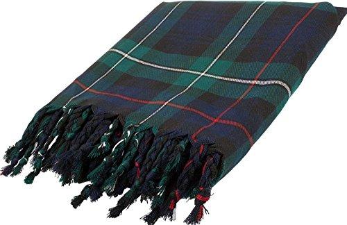 Edinburgh Pure Lambswool Scarf in Black Watch Tartan
