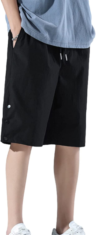 Segindy Men's Loose Fit Sports Shorts Summer Thin Casual Elastic Waist Trend Wild